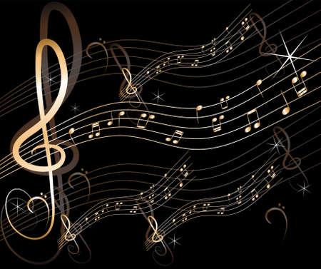 abstract music: vector abstracte muziek achtergrond Stock Illustratie