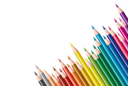 office supplies: vector colored pencils