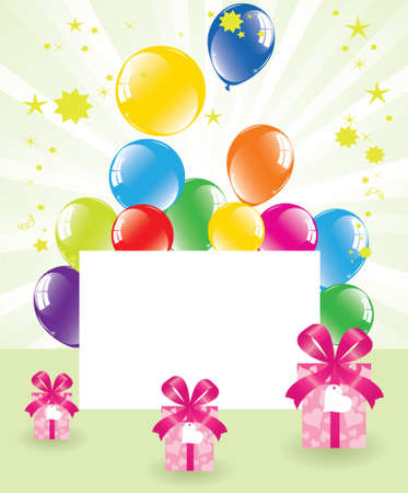 vector festive balloons and gift boxes Vector
