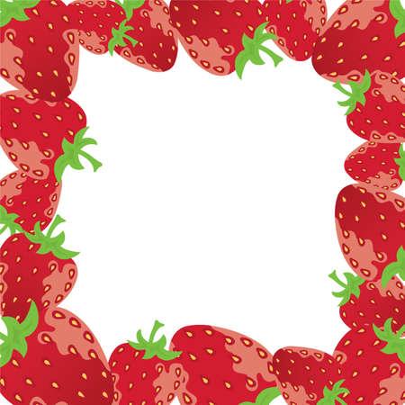 vector strawberry frame Vector