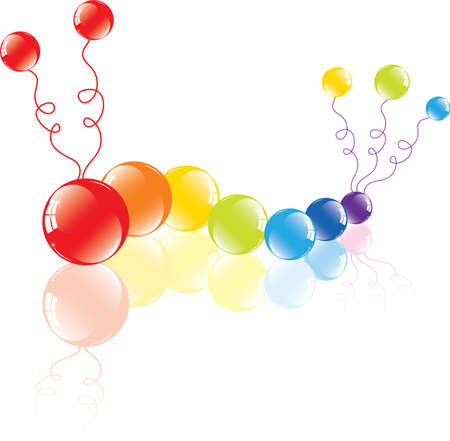 vector illustration of colorful balloons on the floor  Vector