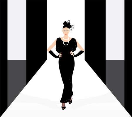catwalk model: Modella sul podio
