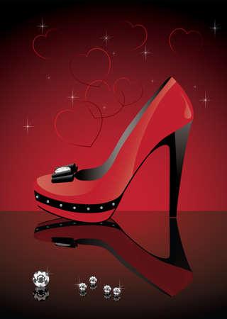 vector red shoe Vector
