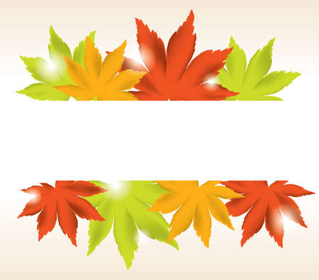 vector abstract background of maple leaves. eps10  Stock Vector - 11664032