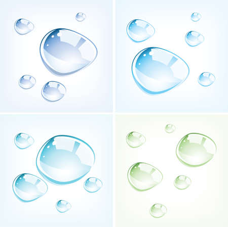 vector set gocce di acqua colorata
