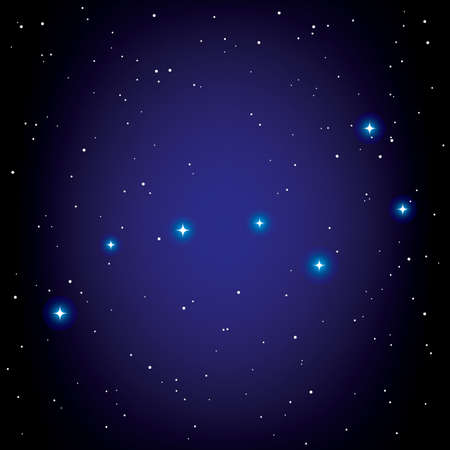 constellation of Big Dipper.  Vector