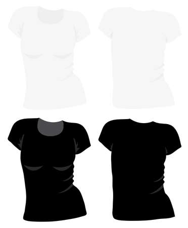 t-shirt template Stock Vector - 11810407