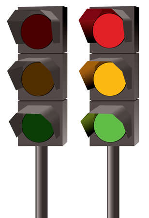 Set of traffic lights  Stock Vector - 12774091