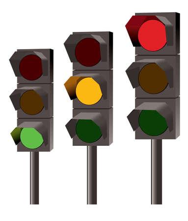 señal de transito: Juego de luces de tráfico