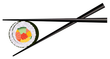 sushi roll: sushi e bacchette