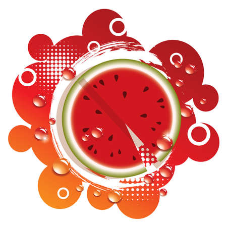 vector abstract background with fresh watermelon Vector