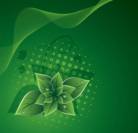 green leaves eco design Stock Vector - 14321285