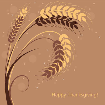cereal plant: vector fall background with wheat ears