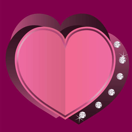 vector greeting card with heart for valentine Stock Vector - 17375787