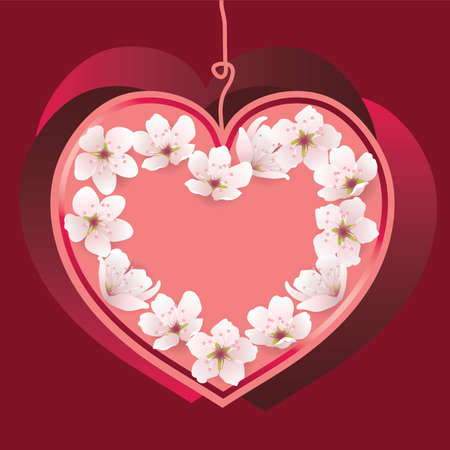 greeting card with heart for valentine Vector