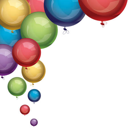 party balloons: vector festive colorful balloons