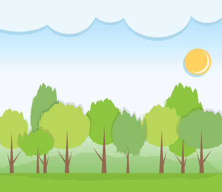 trees and clouds Stock Vector - 20322042