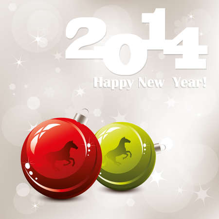 vector 2014 Happy New Year greeting card Vector