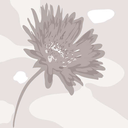 desaturated colors: vector abstract desaturated flower Illustration