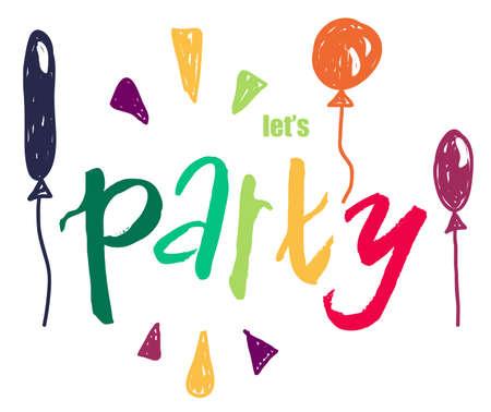 902 Lets Party Stock Illustrat...