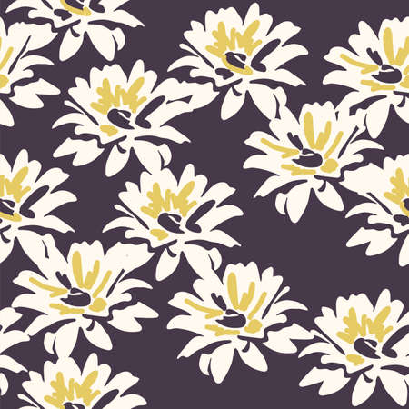 seamless floral background with daisy flowers. vector floral pattern for textile and wrapping Vecteurs