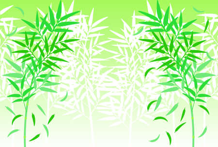 Silhouette illustration of bamboo grass growing in clusters