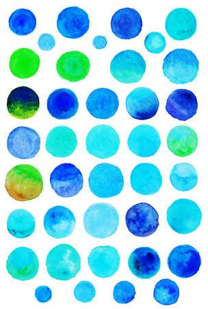 Watercolor polka dots [blue]