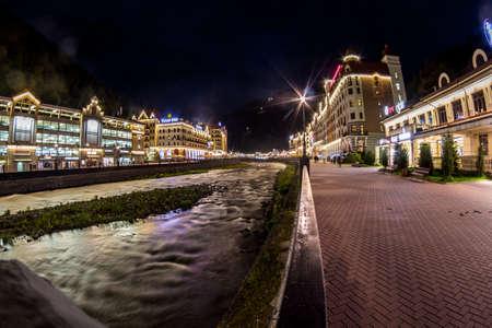 rosa: Krasnaya Polyana, Rosa Khutor at night