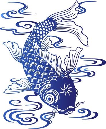 escamas de peces: japanes carpa