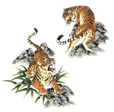 kimono: tiger