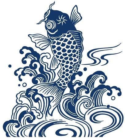 escamas de peces: carpa