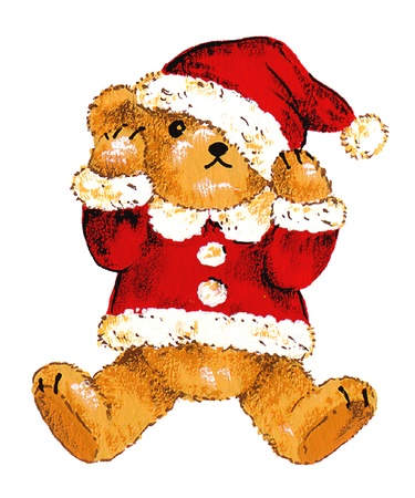 Santa bear  Stock Photo - 15796090