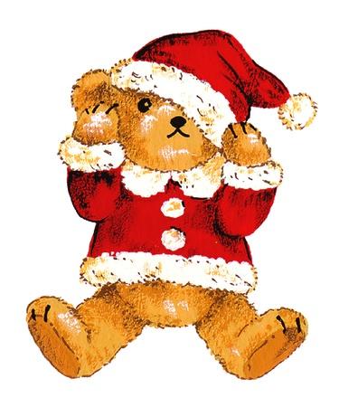 Santa bear Stock Photo - 15796090