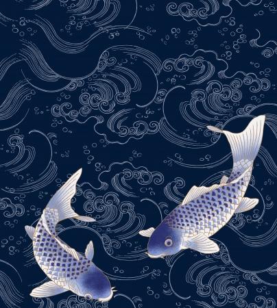 kimono: nataci�n pescado Foto de archivo