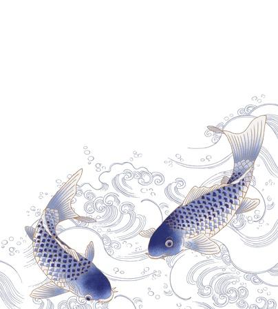 carpa: nataci�n pescado Foto de archivo