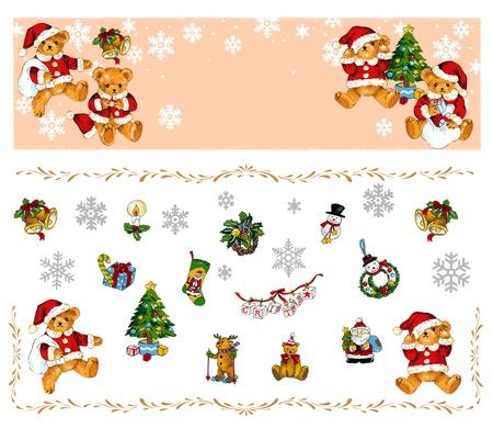 amiability: Christmas bear  Stock Photo