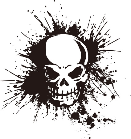splatter and the skull Vector