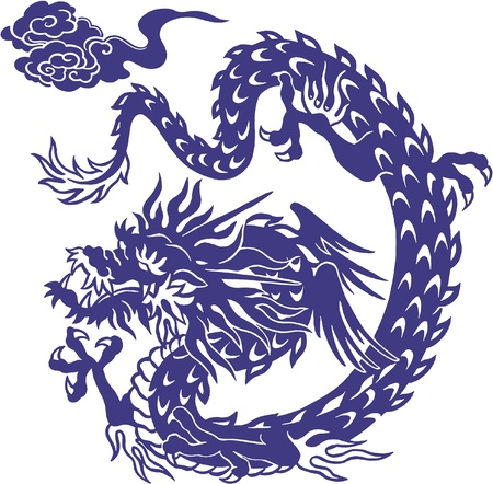 Japanese dragon, Illustration