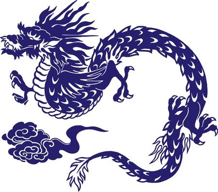 Japanese dragon, Stock Illustratie