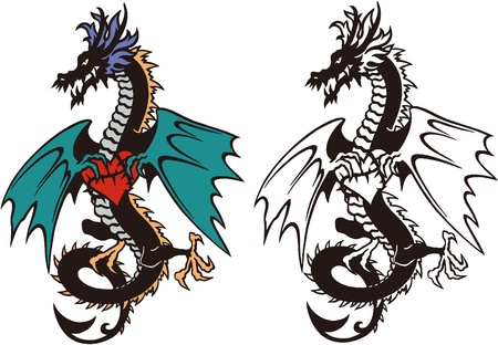 The illustration of the dragon Stock Vector - 16418641