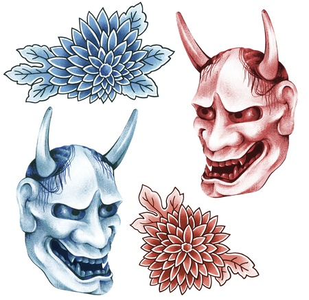 ogre: The mask of demoness Stock Photo