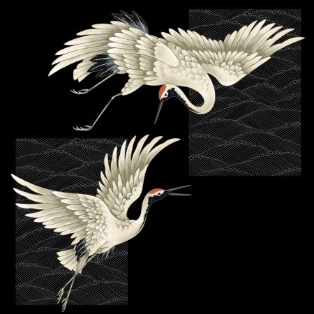 migratory birds: A Japanese crane