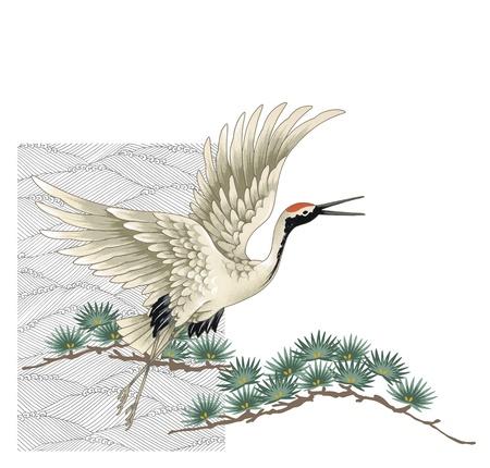 migratory: A Japanese crane