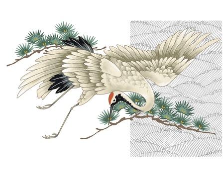 日本クレーン 写真素材