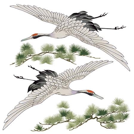 omen: apanese crane
