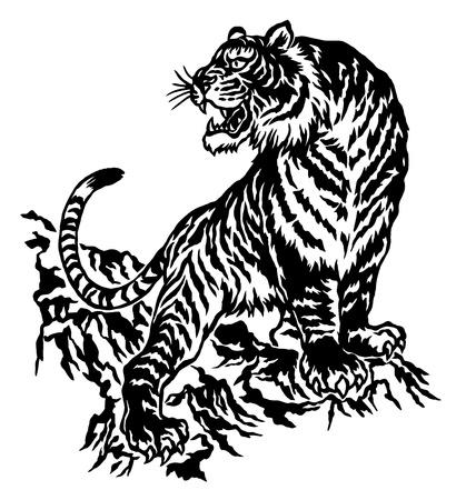 sumi: Japanesque tiger