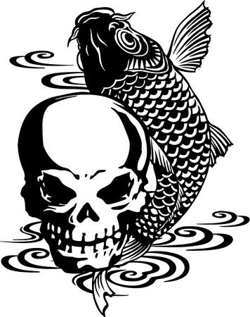 devil's bones: The skull and a carp