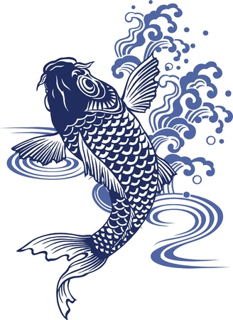 Japanese carp Stock Vector - 18355218