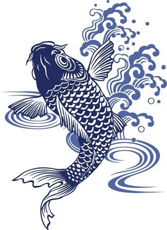 swimming carp:  Japanese carp