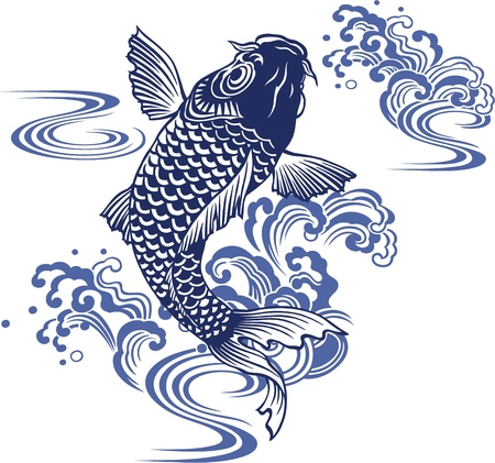 Japanese carp Stock Vector - 18355219